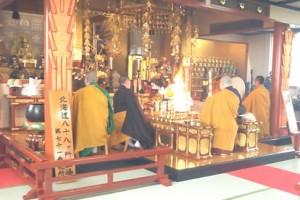 護摩祈祷会の模様